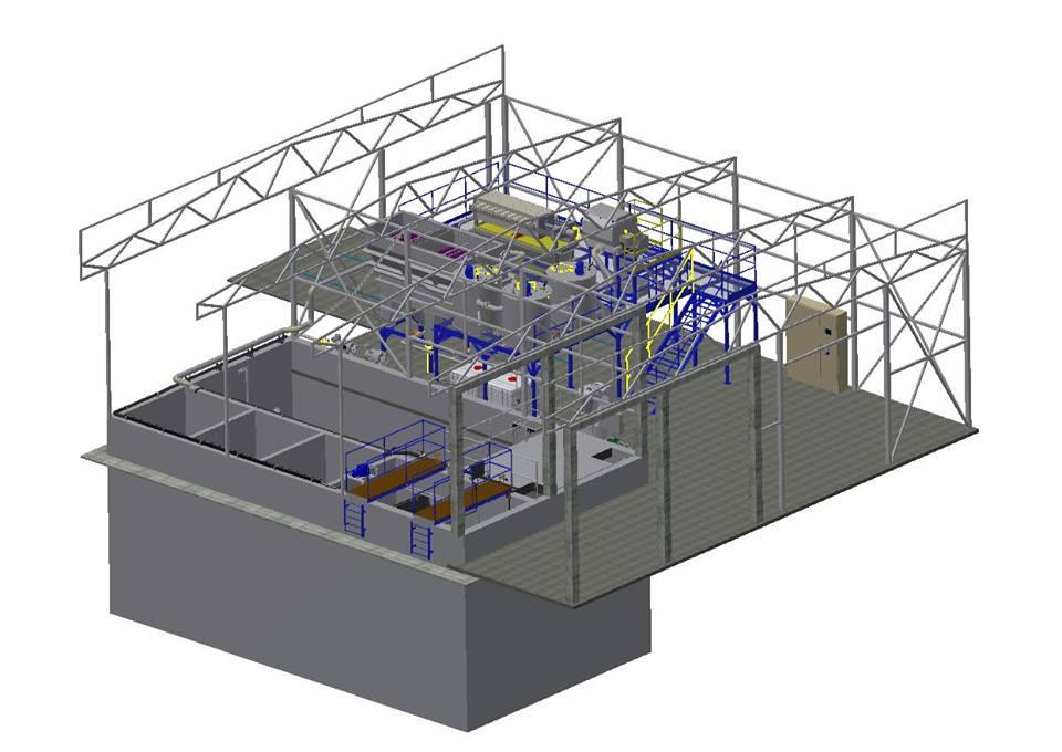 Industrijski prečistači otpadnih voda - 3D model